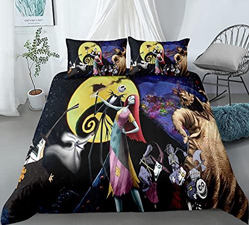 Me Nightmare Before Christmas - Juego de funda nórdica y funda de almohada (50 x 80 cm, tamaño...