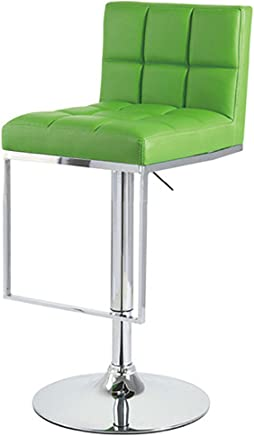 Set of 2 Alex Contemporary Adjustable Barstool - Lime Green