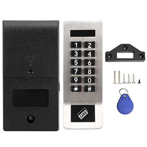 Cerradura codificada para gabinete, cerradura de puerta con contraseña eléctrica, con modo de bloqueo automático Contraseña profesional duradera para uso doméstico en la oficina Accesorio