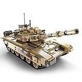 XJJY Conjunto de Edificios de Tanques técnicos, 1:10 T-90 Modelo de Tanque Militar Conjunto con Control Remoto y 3 Motores, Bloques de 1715 Piezas compatibles con la técnica Lego