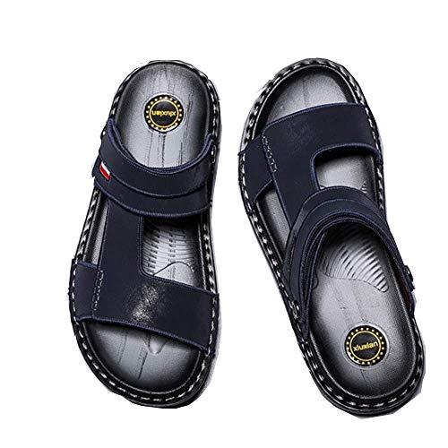 2020 Sommer Hausschuhe Männliche Persönlichkeit Wilde Männer Leder Flip Flops Outdoor-Schiene Weichen Boden Sandalen Rutschfeste Strandschuhe
