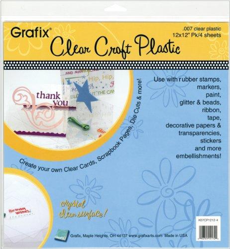 Grafix Claro Craft plástico .007Grosor 15,24por 15,24cm