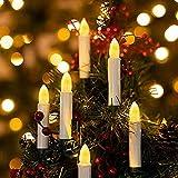 Catena Candele Albero Natale, SILARLAIT 30 LED Candele Natalizie con Clip & 8 Modalità di Illuminazione & Timer, Cantena Luminosa Decorazione per Albero di Natale, Matrimonio, Compleanno, Bianco Caldo