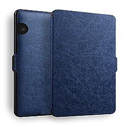 Robustrion Ultra Slim Smart Plain Flip Case Cover for Kindle Voyage