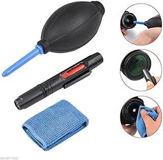 ledmomo 3en 1Cámara kit de limpieza paño de microfibra Fuelle lente lápiz Pincel para cámaras réflex Lavado