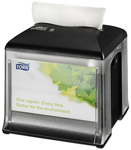 Tork Xpressnap Snack 272808 Dispensador de servilletas/Ideal para restaurantes de servicio limitado/Sistema N10 / Color negro