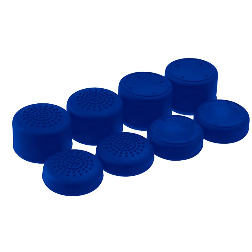 AceShot Thumb Grips (8pc) for Xbox One (One S & X) by Foamy Lizard ? Sweat Free 100% Silicone Precision Raised Antislip Rubber Analog Stick Grips For Xbox One Controller (8 grips) BLUE