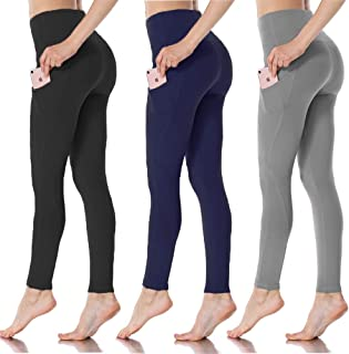 HIGHDAYS Yoga Pants for Women with Pocket - High Waist Non See Through Yoga Leggings for Workout Athletic Runnig Cycling