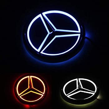 LED Emble For Mercedes Benz 2006-2012 Front Grille Badge Grilled Star Illuminated Car Logo Hood Star For Mercedes Benz C//GLK//B Class And More