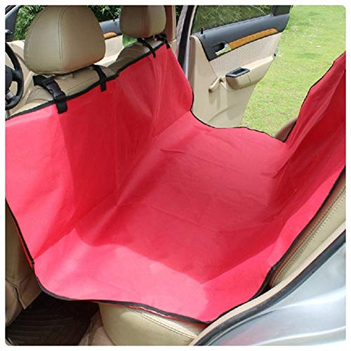 KTUCN Pet Dog Cat Car Rear Back Seat Carrier Cover Pet Dog Mat Blanket Cover Mat Hammock Cushion Protector,red,135x135cm