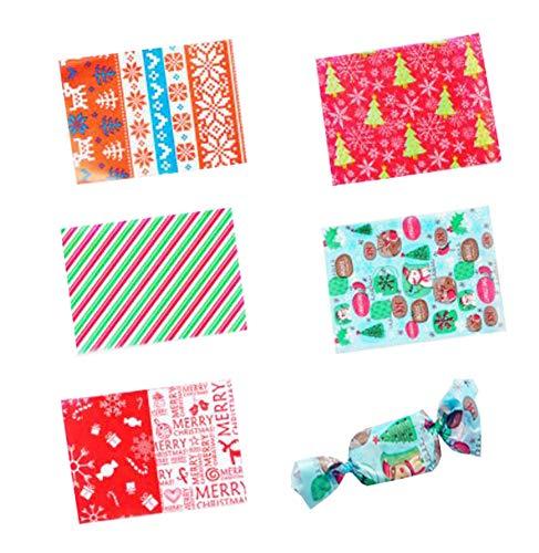 500 hojas de papel de pergamino para hacer dulces, caramelos, caramelos, caramelos, dulces, dulces, caramelos, papel de regalo para galletas, papel de hornear, 12,7 x 8,9 cm (tema de Navidad)