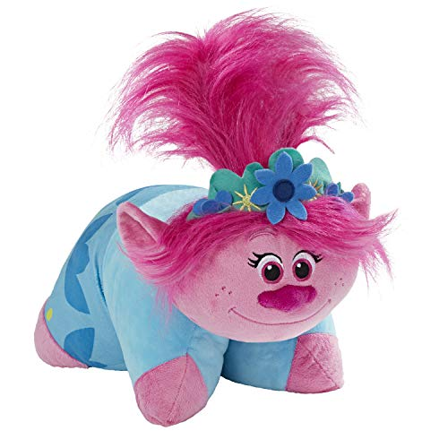 Pillow Pets DreamWorks Poppy Stuffed Animal – Trolls World Tour Plush Toy, Pink (01203603B)
