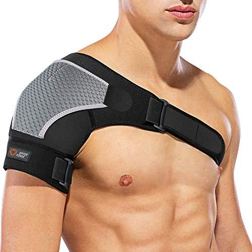 Hombrera Ajustable Izquierda o Derecha, Neopreno Unisex Compatible con Paquete Frío/Caliente, para Prevención de Lesiones, Articulación CA Dislocada, Hombro Congelado, Esguince, Dolor, Tendinitis