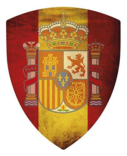 Artimagen Sticker Wappen Spanien Pico mit Auswirkungen 40x 60mm.