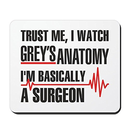 Mouse Pad Greys Anatomy Trust Me Rubber Gaming Mouse Pad Non-slip Wrist Protected Mousepad for Office 10 x 8 inch
