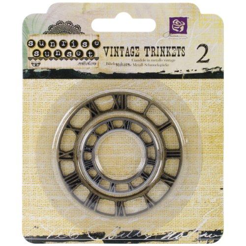 100-Pack Prima Marketing Sunrise Sunset Mini Clavos Tornillos Mechanicals Metal Vintage trinquetes