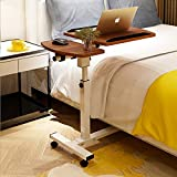 Tiltable Overbed Table with Wheels Heavy-Duty Movable Couch Sofa End Table,C Shaped Height Adjustable Mobile Laptop Stands for Office School and Home Use