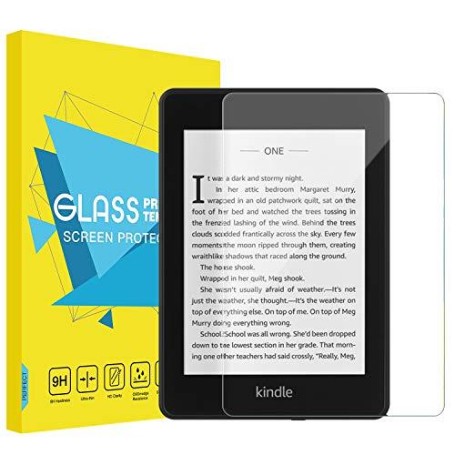 MoKo Compatible con Kindle Paperwhite 2018 Protector de Pantalla HD Claro 9H Dureza Cristal Templado Película El Revestimiento Oleofóbico para Kindle Paperwhite (10th Generation-2018)- Claro