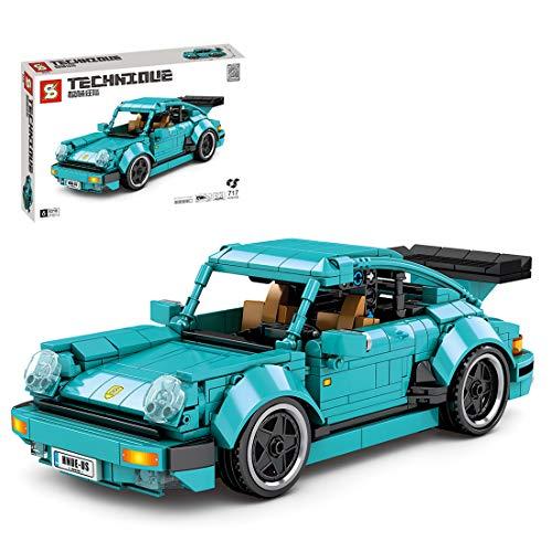 SESAY Technik Auto Oldtimer, 717 Teile Technik Retro Auto Modell Bausteine Bauset, Technik Pull Back Auto Kompatibel mit Lego Technik