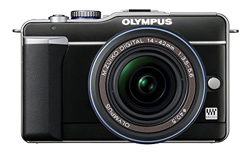 Pen E-PL1 - Schwarz + Objektiv M.ZUIKO DIGITAL ED 14-42 mm + Kameratasche für Bridgekameras 13 X 11 X 10 CM + SDHC-Speicherkarte 8 GB + Mini-Stativ Pocketpod