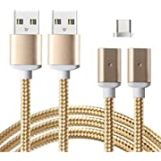 Lively Life 2 in 1 USB Type C Cable, Magnetic USB Type C Nylon Braided Charging and Data Transfer Cord for Galaxy S8 S8 Plus Android Smartphone Devices 1m/3.3ft