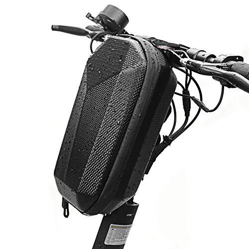 HaavPoois Bolsa de Manillar Scooter, Gran Capacidad EVA Scooter Impermeable Bolsa de Almacenamiento Colgante Frontal con Doble Cremallera para Scooter Eléctrico Bicicleta Plegable