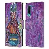 Head Case Designs Offizielle Wyanne Bear with Antlers Tiere Leder Brieftaschen Handyhülle Hülle Huelle kompatibel mit Huawei P30