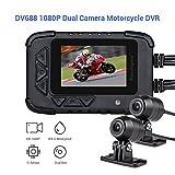 Blueskysea DV688 Dash Cam avec GPS 1080p Dual Lens Motorcycle Enregistrement caméra écran LCD 6 cm IP67