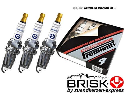 Brisk Iridium Premium+ Plus P46 MR15YIR-1 2104 Zündkerzen, 3 Stück