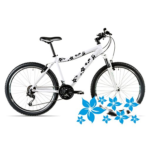 style4Bike Blümchen Aufkleber für das Fahrrad Blumen Sticker mehrteiliges Set Bike | B00034