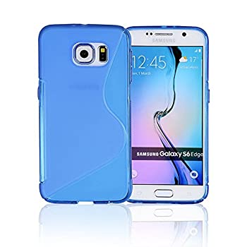 Galaxy S6 Phone Case Galaxy s6 Case | Samsung Galaxy s6 SIV S IV i9600 - Custom Pretty Wallet Thin Soft Gel Shell Cover Skin Phone Case by Cable and Case | Not Edge Compatible - Clear Blue