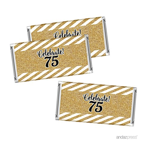 Celebrate 75! Full Size Candy Bar Wrappers - Set of 10