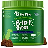 Zesty Paws 8-in-1 Bites for Dogs + Hemp Seed, 90 Count (Packaging May Vary)