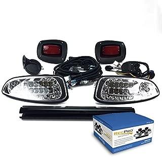 RecPro EZGO RXV GOLF CART DELUXE STREET LEGAL ALL LED LIGHT KIT 2008-2015