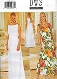 4929 Uncut Butterick Misses Sewing Pattern A Line Formal Evening Dress Size 14 16 18