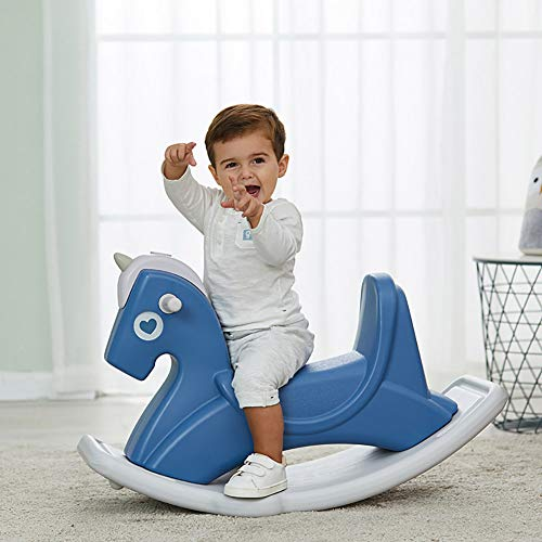 WRJ Plastic Rocking Horse Toy Rocker Seesaw Baby Infant Pony Pet First Rocking Horse with Handle, Toy Gift for Guys Girls,2