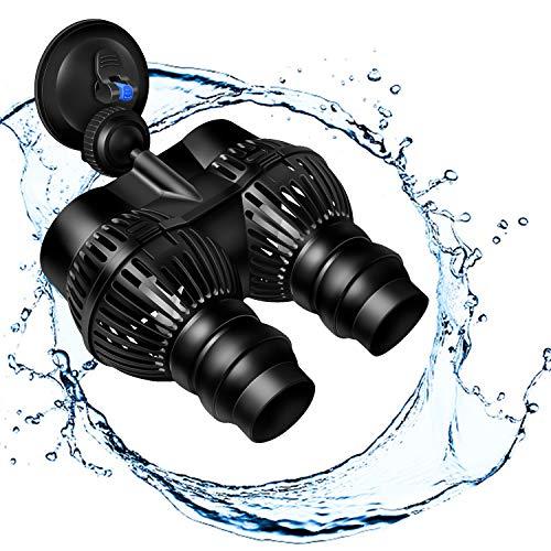 YAOBLUESEA Umwälzpumpe,Wave Maker Wellenpumpe Aquarium Strömungspumpe Mit Magnet Iron (12000 L/h)