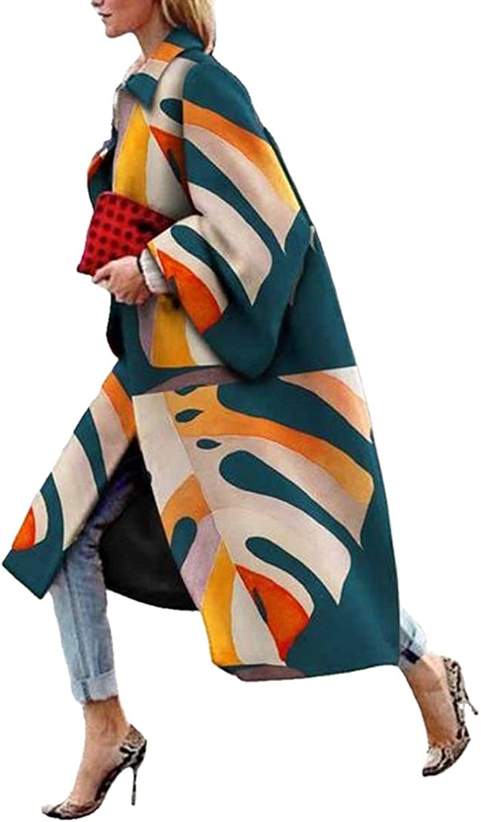 Selling and selling womens printed woolen coat fall Cheap SALE Start boho clothes trench
