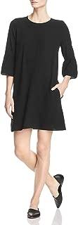 Eileen Fisher Womens Silk Bell Sleeves Mini Dress