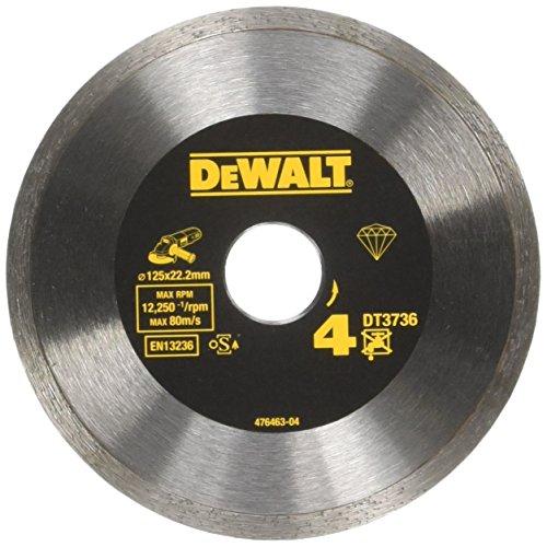 DEWALT DT3736-XJ Disco a Corona Continua, Saldato al LaserTaglio di Piastrelle, 125 x 22.2 x 7 mm