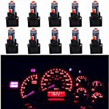 WLJH Super Bright Red Canbus T5 Dashboard Light Bulbs Car Instrument Panel Cluster
