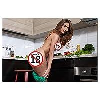 セクシーな主婦ポスターとプリントHdキャンバス絵画壁の写真リビングルームの家の装飾壁アート壁紙-60X90Cmフレームレス
