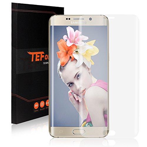 TEFOMATE Samsung Galaxy S6 Edge Plus Pellicola Protettiva, Pellicola Protettiva Temperato di Vetro Tempered Glass Full Screen Protector per Samsung Galaxy S6 Edge Plus[Retail Package][Full Screen]