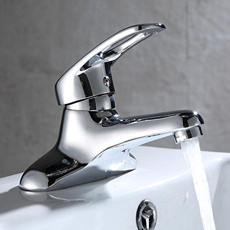 Luziang Warmes und kaltes Bad Badezimmerhahn Doppelloch Hahn Waschbecken Wasserhahn- Sicherer für in Bad WC Küche