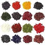 Wtrcsv 68 Gramme 16 Farben Kerzenfarbe, Kerzenwachs Farbe Wachsfarbe Wachsfarben, Kerzenherstellung Dye für Kerzen Kerzenwachs Paraffin Sojawachs, 68g (16er x 4.25g)