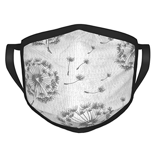 Dandelion Nature Men's and Women's Mouth Face Mask Anti Breathable Dust Absorb Sweat Washable Reusable Masks for Cycling Camping Ski Travel Outdoor