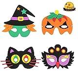 ZERHOK Máscara de Halloween para Niños 8pcs Halloween DIY Máscaras de Dibujos Animados Sombrero...