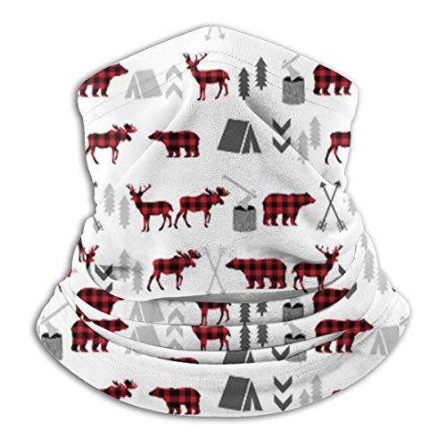 N / A Balaclava,Cache-Cou,Bande De Cheveux,Cache-Col,Couverture De Visage,Respirant Couvre-Chef,Echarpe Gaiter,Casque De Protection du Visage Buffalo Plaid Woodland Black