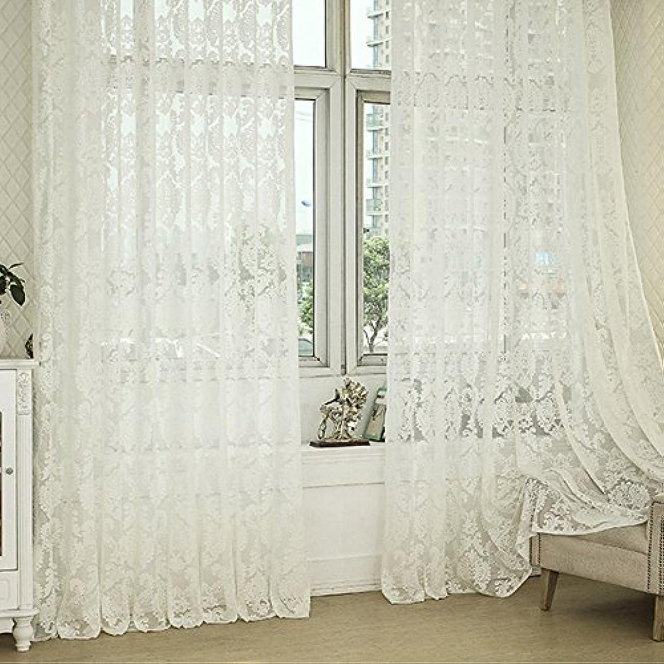 永遠のいくつかの故国R.LANG ヨーロッパスタイルデザインジャカールカーテンクリームホワイト 1枚入り幅200cm×丈176cm