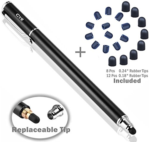 B&D Universaler Stylus-Eingabestift 2-in-1, für Touchscreens, Stift für Apple iPad, iPhone, iPod, Kindle, Tablet, Galaxy, LG und HTC